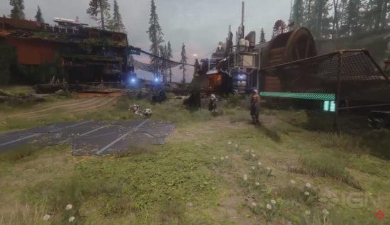 Destiny 2 Farm Fußballfeld mit Toren