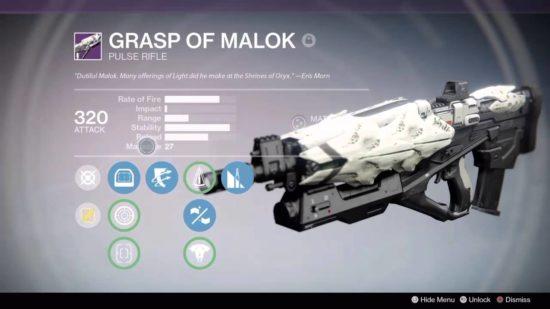 Griff von Malok God-Roll