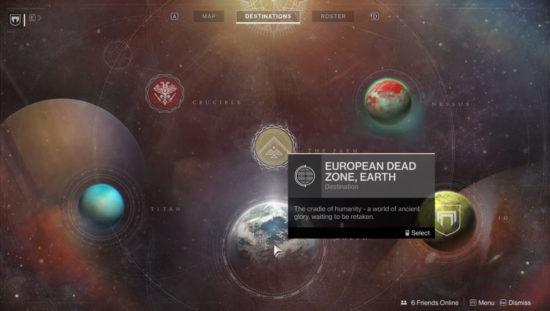 Destiny 2 Sternen-Karte