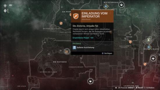 Destiny 2 Abenteuer Einladung vom Imperator